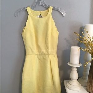 Lauren James Yellow Seersucker Dress